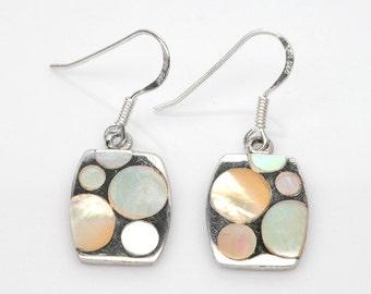 Handmade Natural Gemstone Jewelry, Genuine Pearl Sterling Silver Earring  FD5C0506  ER-WPL438