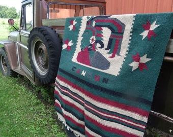 Vintage Hippie Blanket Cancun Multi Colors