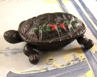 Wilton Cast Iron Turtle, Hinged Trinket Box, Turtle Match Holder, Hinged Lid, Converged Commodities epsteam vestiesteam