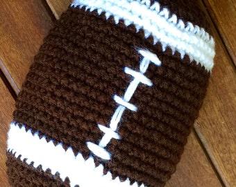 Crochet plush football