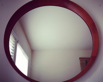 Danish modern teak framed-mirror by TH Poss' EFTF