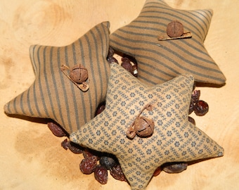 Holiday Special-Primitive Star Homespun Ornies-Set Of 3-FAAP