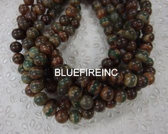 32 pcs 12mm round smooth tibetan agate beads
