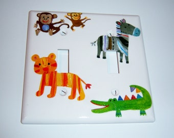Wild Animals Double Light Switch Cover