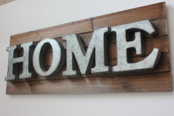 Items Similar To HOME METAL LETTERS Galvanized Zinc Steel