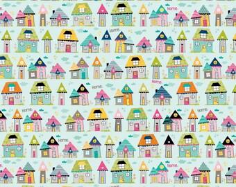 Riley Blake Designs Snapshots Home Blue  - 1 yard