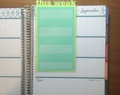 THIS WEEK Lime Planner Dashboard