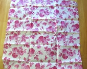 Early 1900's French Rose Print Cotton Fabric - Unwashed Crisp