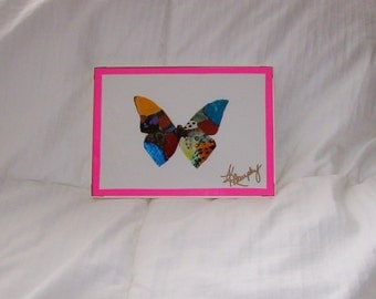 "Real Butterfly Wings Framed  "" Butterfly ""  Collage"