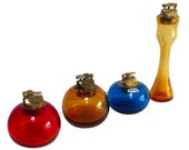 Blenko Glass Lighters Or Vases - Set of 4 Lighter Vase Collection Art glass