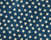 Ivory Stars on Navy Stonehenge Stars & Stripes Quilt Fabric by the 1/2 yard
