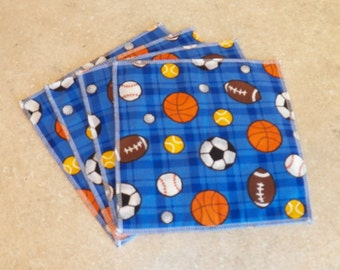 Cloth Wipes- Sports version 1- Set of 6- 15044