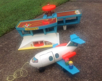 Vintage Fisher Price Airport and Plane 1972