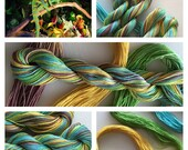 """Size 10  """"IGUANA""""  Hand Painted Thread for Tatting and Crochet -  50 Yard skein"""