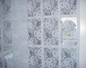 Free Shipping..Vintage Sparkling White Lace Panel 84 Long