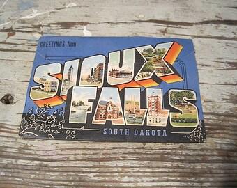1950 Sioux Falls, South Dakota Souvenir Folder Post Card