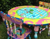 Little Girl Table and Chairs, Table and Chairs for Kids, Children's Table and Chairs Set, Personalized Table and Chairs for Girls Tea Party