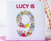 Personalised Childs Birthday Card - Personalized Childs Birthday Card - Kids Birthday - Child Birthday