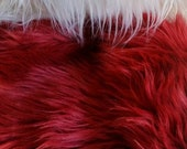 Cranberry/Wine Faux Fur Craft Size