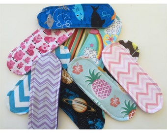 """Set of 5 Wingless Cloth Panty Liners Mystery Pack 7.5"""""""