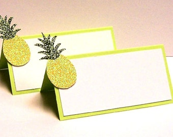 Set of 10 Pineapple Place Cards