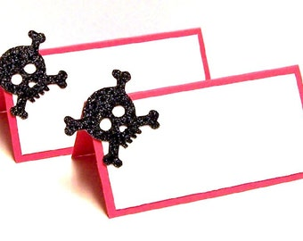 Set of 10 Skull Place Cards