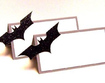 Set of 10 Superhero Batarang Place Cards