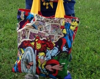 Marvel Superhero Childrens Tote/Trick or Treat Bag