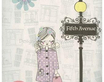Shabby Chic Nursery Decor, Baby Room Shabby Chic Bonjour For Baby Girl - new york Nursery art - NYC art, Shabby Chic Light Pink, green, blue