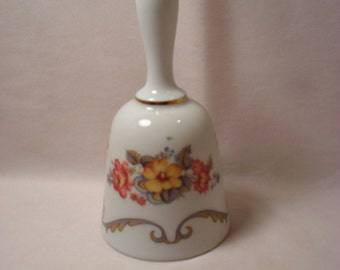 Bereuther Waldsassen Bavaria Germany Floral Pattern Porcelain Bell
