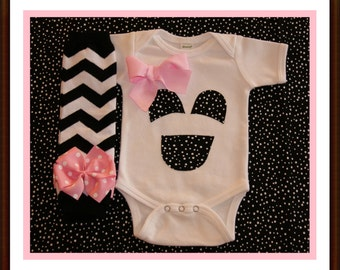 BOO Friendly Ghost Face Baby Girl My First Halloween Set - Baby Girl Bodysuit Set Halloween