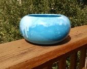 Blue Frank Moreno Drip Glaze Planter