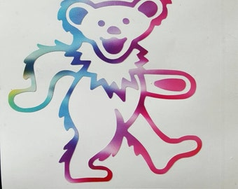 Grateful Dead Tie Dyed Dancing Bear Vinyl Graphic Sticker