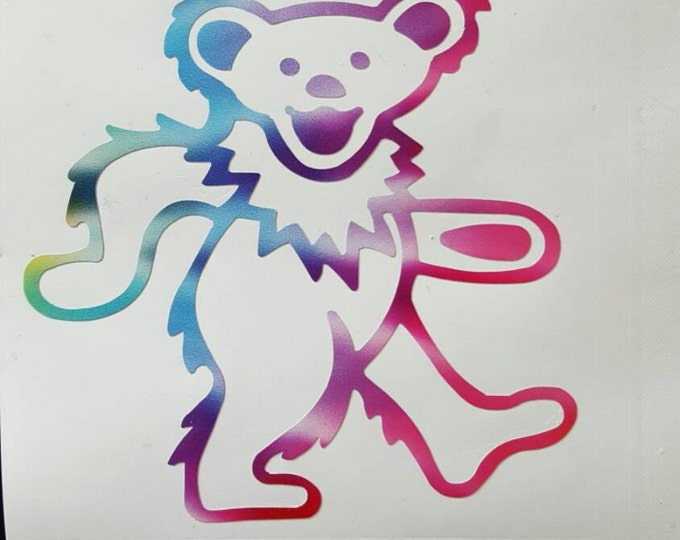 Grateful Dead Tie Dyed Dancing Bear Vinyl Graphic Sticker