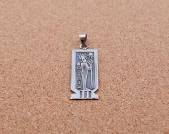 wonderful sterling silver ancient egyptian osiris charm pendant