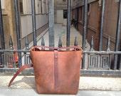 East tote, handmade leather bag, shoulderbag, brown handbag, handmade leather cross body purses, handmade bags & totes by Aixa Sobin, maker