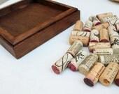 Wine Cork Trivet DIY Kit - Reclaimed Distressed Wood - brown stain - wine cork crafts