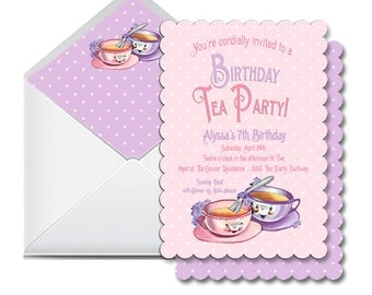 Tea Party Invitation Set by Loralee Lewis