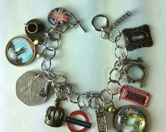 London England Charm Bracelet Great Britain