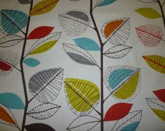 "20 x 12"" Lumbar Orange Cushion Cover, Floral Oblong Bolster Rectangle Pillow Cover Funky Retro Cotton Decorative Pillow"