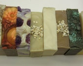 Pick any three lye soap bars cold processed soap for 1 low price