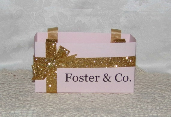 Set of 4 Personalized Blush Pink and Gold Collection Gift Bag, Favor Bag, Many Sizes Available