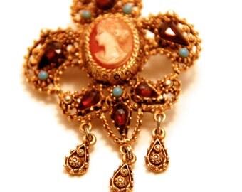 Fiorenza Very Ornate Renaissance Cameo Pendant
