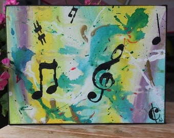 Move to your own beat music abstract painting art music notes