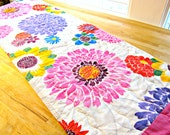 Quilted Table Runner, Modern Table Runner, Floral Table Runner, Quilted Table Topper, Sunflower Runner, Easter Runner, Summer Runner