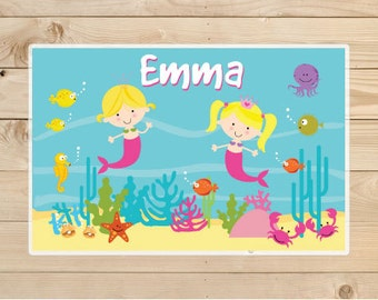 Kids-Personalized-Placemat--Mermaid-Kids-Placemats.-A-personalised-children's-gift-idea-Placemat-for-Girls