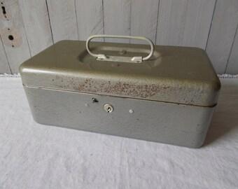 Vintage  Metal Utility Box /Tool Box /Storage Container