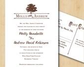 Printable Wedding Invitation - Oak Tree Script