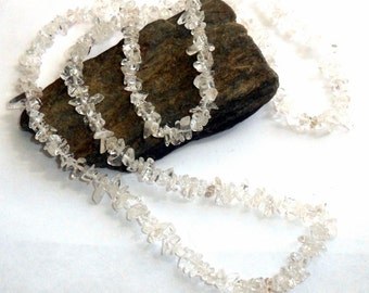Clear Quartz Long Chip Necklace earthegy