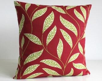 Throw Pillow, Sofa Pillow, 16 Inch Pillow Cover, 16x16 Cushion Cover, Decorative Pillow, Pillowcase, Pillow Cover, Pillow Sham - Vine Warm